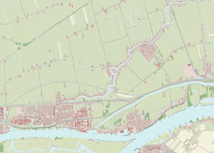 Kaart vanHardinxveld-Giessendam van Rebel Ontwerp