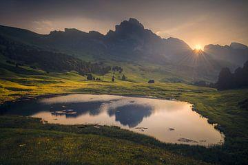 Sonnenaufgang Dolomiten von Peter Poppe