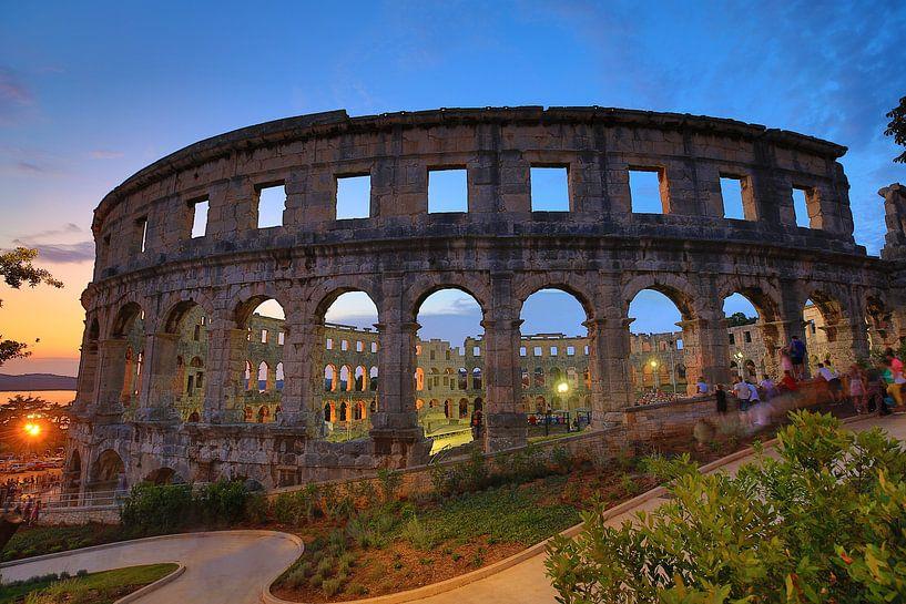 L'arène romaine de Pula sur Jasper van de Gein Photography
