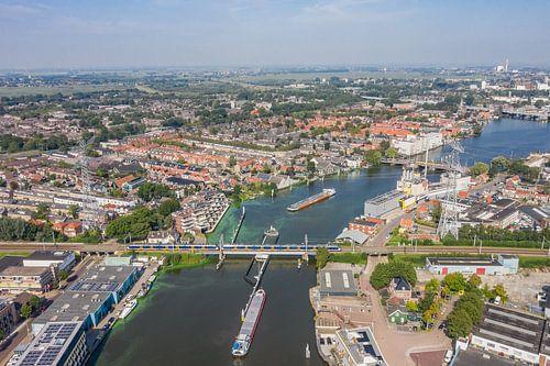 Luchtfoto: Spoorbrug Zaandam