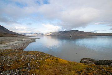 Zicht op Spitsbergen van Peter Voogd