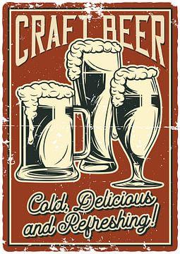 Bier Poster van Gabi Siebenhühner