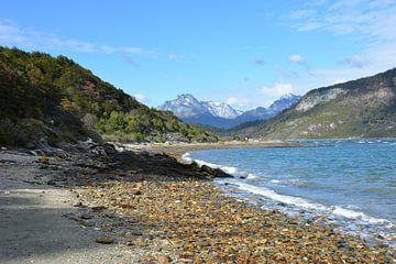 Meer en bergen in Tierra del Fuego Patagonië van My Footprints