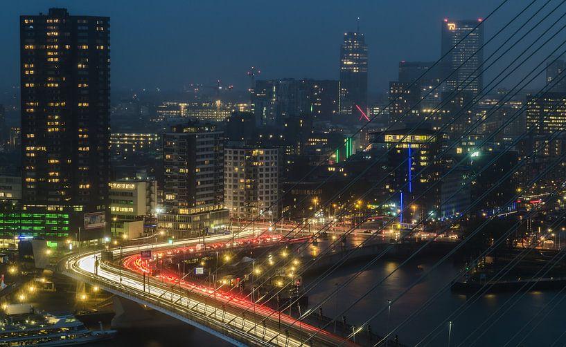 Skyline Rotterdam van Arthur Wolff
