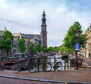 Anne Frankhuis en Westerkerk van Peter Bartelings Photography