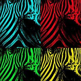 Zebra popart van Dietjee FoTo