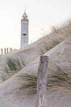 Der Leuchtturm von Noordwijk von Charlene van Koesveld