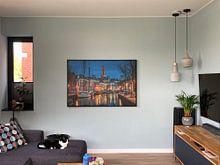 Klantfoto: Historisch Groningen van Wil de Boer, op canvas