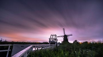 Kinderdijk Nederland sur Dick van der Wilt