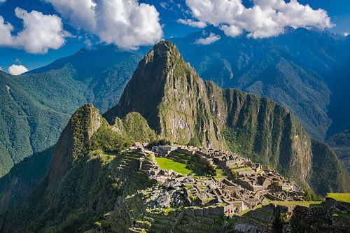 Uitzicht op de verborgen stad, Machu Picchu, Peru