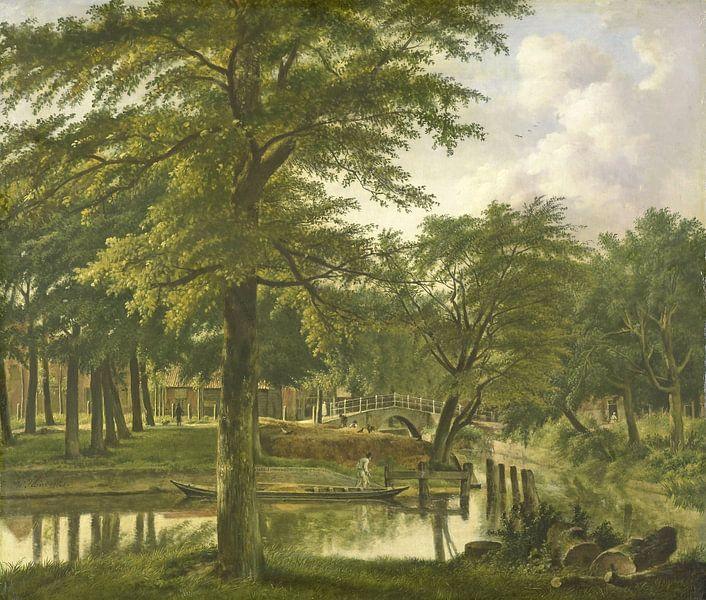 Gezicht op de Nieuwe Gracht te Haarlem, Wybrand Hendriks van Meesterlijcke Meesters