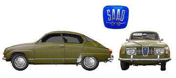 Saab 96 in Originalfarbe von aRi F. Huber