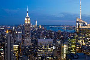 New York bij nacht van