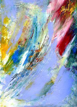 """Abstracte schilderkunst """" lichtheid 1 """" van Claudia Gründler"""