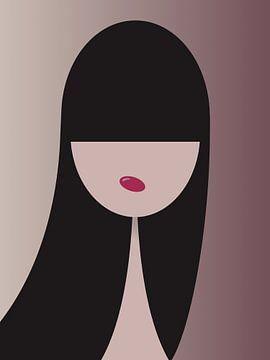 Grafisch meisje 2 von Anjo Vrieling