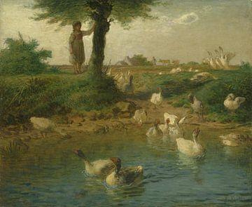 La Goosegirl, Jean-François Millet sur