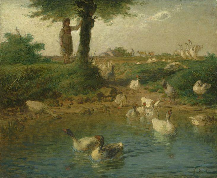 De Goosegirl, Jean-François Millet.... van Meesterlijcke Meesters