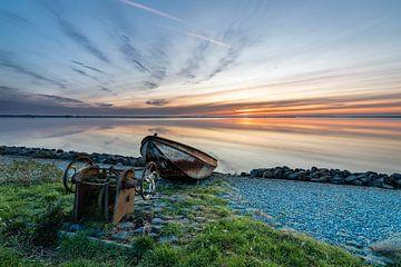 Sonnenuntergang über dem IJsselmeer von Timothy Ricketts