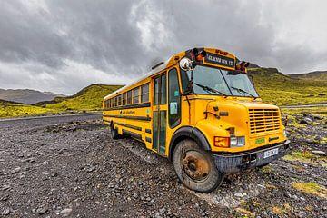 Amerikaanse schoolbus in  IJsland van Easycopters