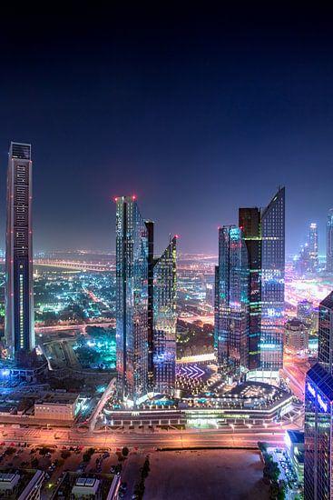 Dubai wolkenkrabbers van Rene Siebring