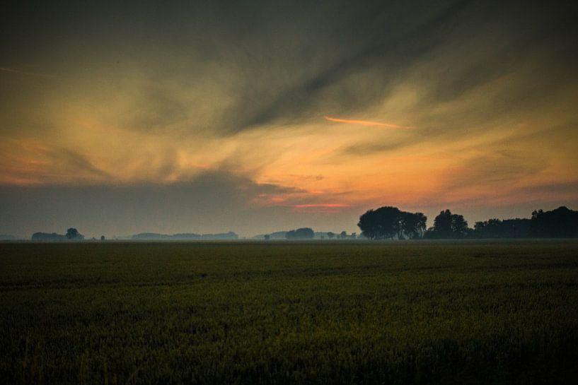 Zonsondergang Schouwerzijl  van Tim Stoppels
