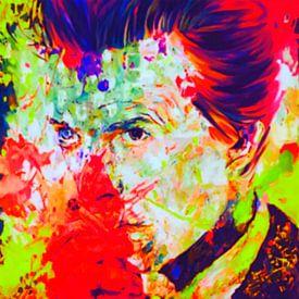 David Bowie Neon Vintage Summer Splash  van Felix von Altersheim