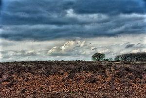 Een dreigende donkere lucht. van Jurjen Jan Snikkenburg