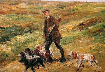 Max Liebermann, Jager in de duinen - 1913 van Atelier Liesjes