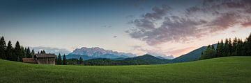 Wettersteingebergte en Zugspitze van Martin Wasilewski