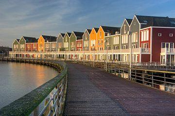 Kleurrijke huizen aan de Rietplas in Houten van PvdH Fotografie