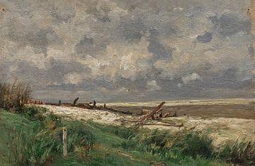 Carlos de Haes-Dunes von Villerville, Antike Landschaft