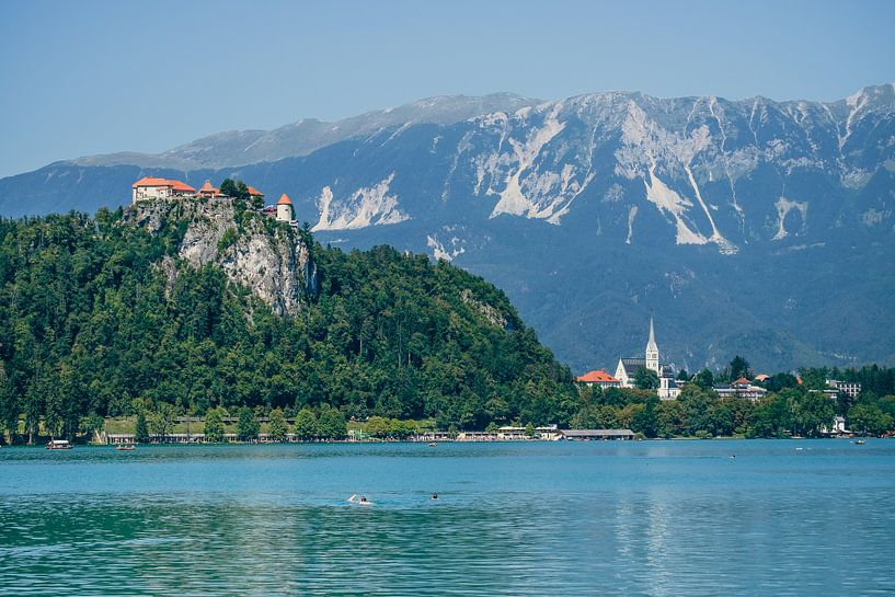 View on Lake Bled (Slovenia) van Rob van der Pijll