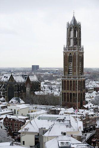 De Dom van Utrecht in de winter van