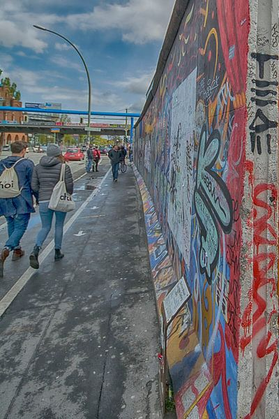 Eastside Berlijnse muur van Foto Amsterdam / Peter Bartelings