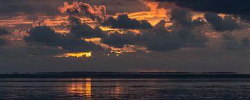 Zonsondergang Waddenzee van