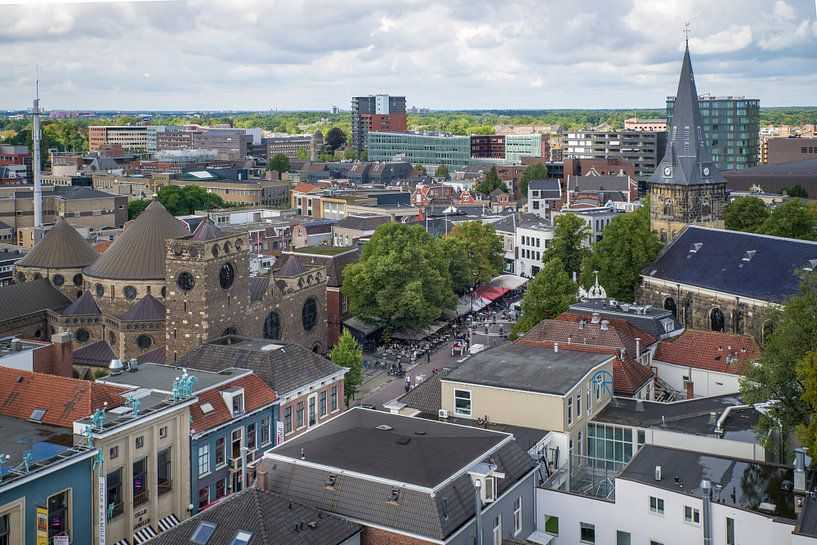 Enschede Oude Markt van Eriks Photoshop by Erik Heuver