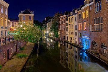 Nacht Foto Oudegracht Utrecht von Anton de Zeeuw
