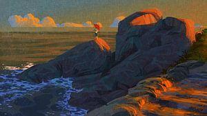 Schriftstellerlicht von Ontsnap landschap