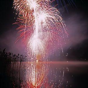 Feuerwerk im Pfäffiker See bei Zürich von Rainer Elpel