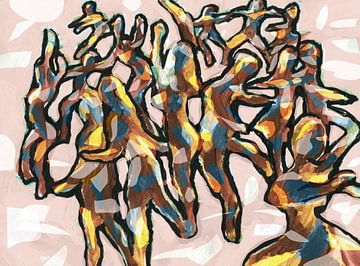World Wide Dancers van ART Eva Maria