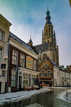Breda - Grote Kerk in de sneeuw van I Love Breda