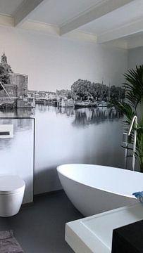 Klantfoto: De oude haven van Enkhuizen in zwart wit van Harrie Muis