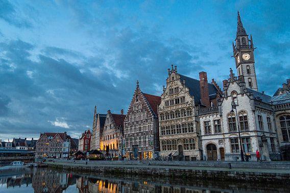 Graslei in het prachtig Gent