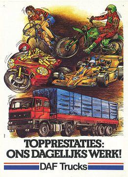 Vintage reclame DAF TRUCKS van Jaap Ros