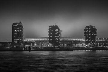 Feyenoord stadion 17 (zwart wit) van