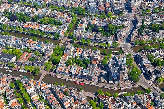 Luchtfoto Anne Frank Huis te Amsterdam van Anton de Zeeuw