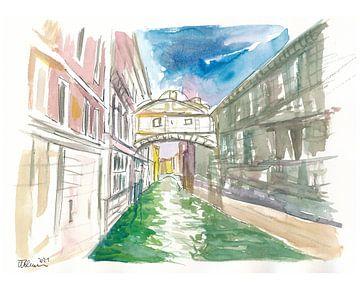 De Brug der Zuchten in Venetië - Ponte dei Sospiri van Markus Bleichner