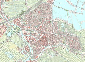 Kaart vanGouda