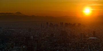 Tokio Skytree Zonsondergang van Keith Wilson Photography