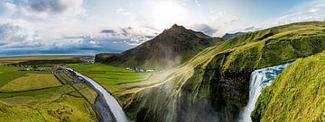 Skogafoss Panorama van Patrick Schwarzbach